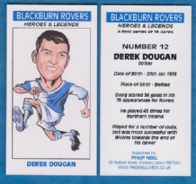 Blackburn Rovers Derek Dougan Northern Ireland 12 (BB)